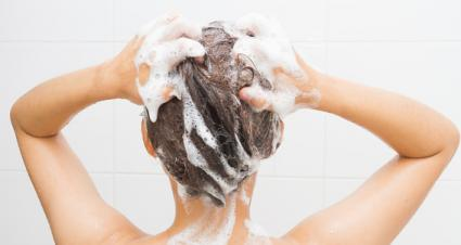 wash with clarifying shampoo