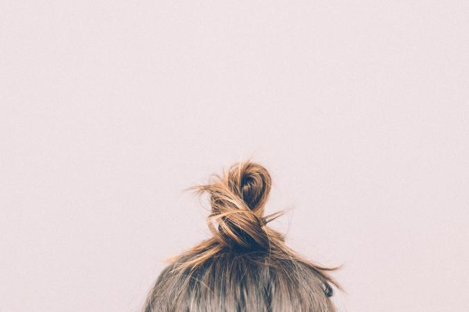 Blond hair bun