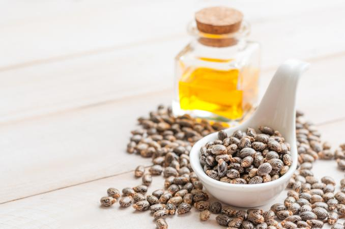 castor oil and beans