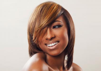 Hair color for black women lovetoknow caramel highlights in hair pmusecretfo Image collections