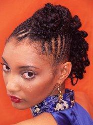 Cornrows braid styles lovetoknow cornrow updo urmus Image collections