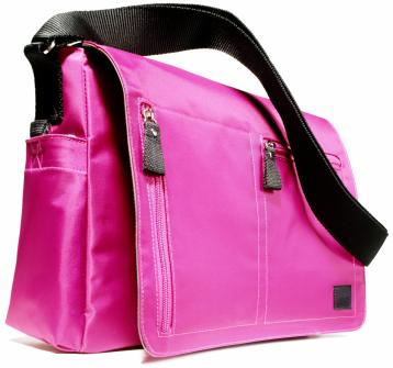 Pink messenger bag