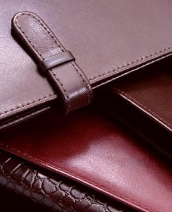 skinny wallet closeup