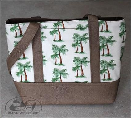 Palm Tree and tan Purse from AmishWorkshops.com