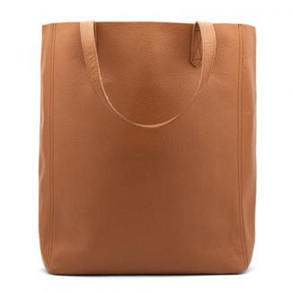 Cuyana Caramel Leather Tote