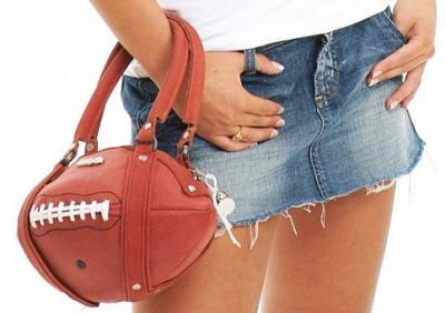 Leather football purse