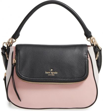kate spade new york 'cobble hill - deva' leather crossbody bag