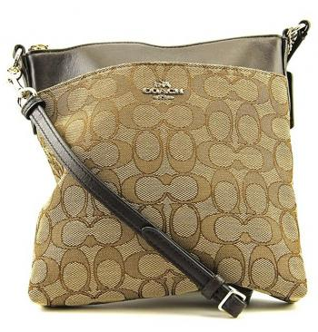 COACH Women's Signature North/South Swingpack