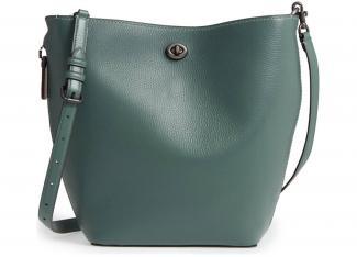Coach Duffle Leather Bucket Bag