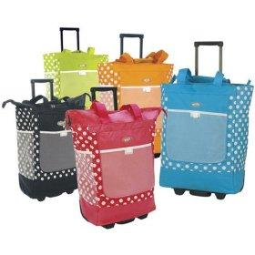 Cute Shopping Totes with Wheels from Luggage America