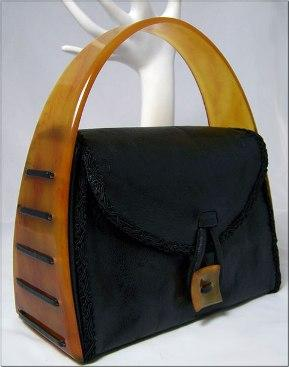 1940's Lucite Leather