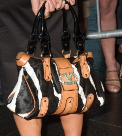 celebrity print purse