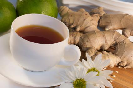 ginger tea and root