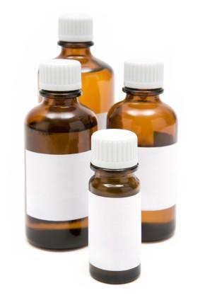 medicinal herb tinctures, bottles