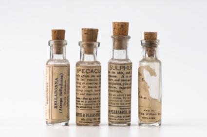 old homeopathy bottles