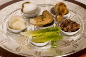 Traditional Seder plate