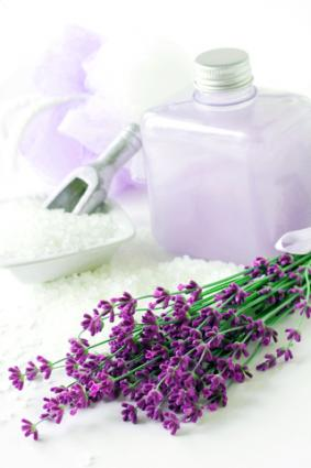 Lavender bath salts and lotion
