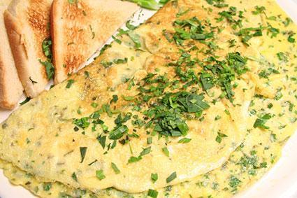 Herb omelet