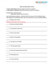 Worksheet Grammar Worksheets For High School free grammar worksheets main and subordinate clauses