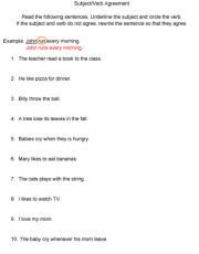 Verb Tense Agreement Worksheets Ks2 - Worksheets