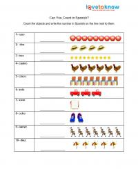Printables Preschool Spanish Worksheets free spanish worksheets for kindergarten numbers in spanish