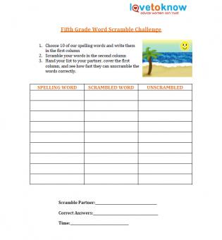 Printables Fifth Grade Spelling Worksheets free spelling worksheet fifth grade words source worksheet