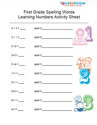 Printables Learning Worksheets For 1st Graders first grade spelling worksheets abitlikethis worksheet