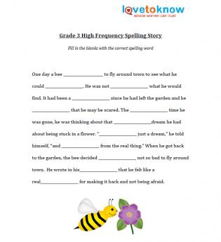 School 3 Grade Spelling Worksheets