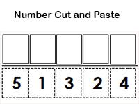number cut and paste worksheet