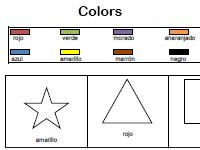 I know my colors Spanish worksheet