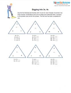 Addition and Subtraction Fact Family Worksheets