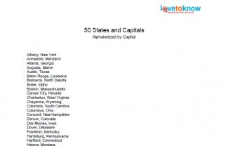 Download 50 states and capitals alphabetized by capital