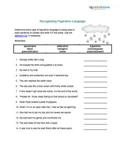 Printables Figurative Language Worksheets For Middle School figurative language worksheet middle school abitlikethis download recognizing activity christmas worksheets th