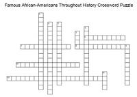 Famous African Americans Crossword Puzzle.