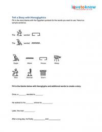 Worksheets Hieroglyphics Worksheet hieroglyphics worksheets hieroglyphic story worksheet