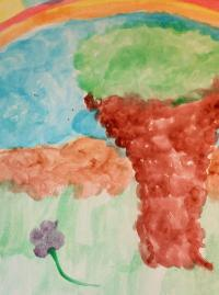 Monet-style impressionist painting with water color instead of oil