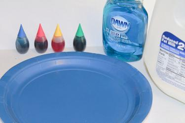 Supplies need for Tie-Dye experiment