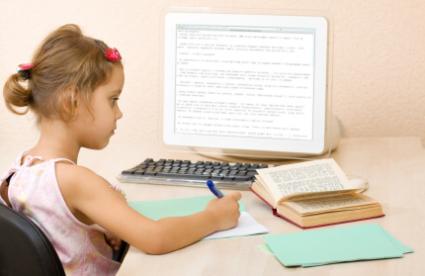 Girl working on writing