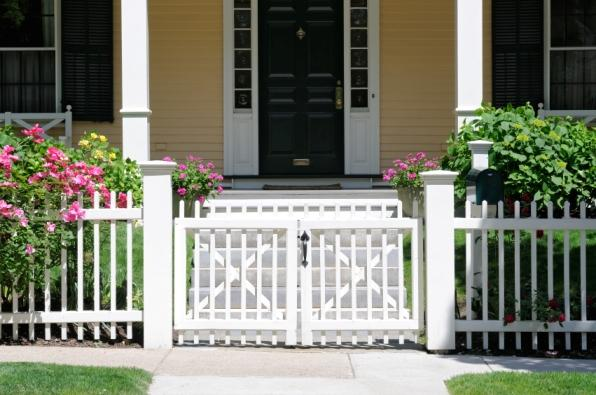 Front entry porch pictures slideshow for Porch gate plans