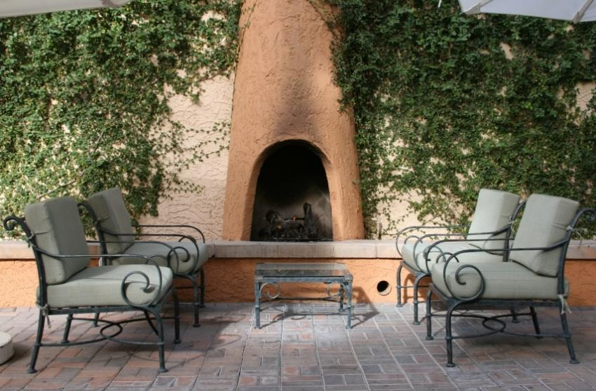 Outdoor fireplace gallery slideshow for Spanish style outdoor fireplace