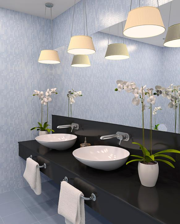 Vanity Lights Shine Up Or Down : Bathroom Vanity Lighting Ideas [Slideshow]