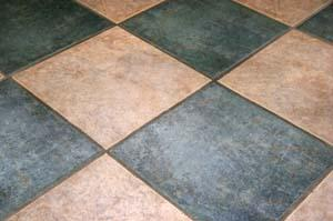 Multi-colored commercial grade tiles.