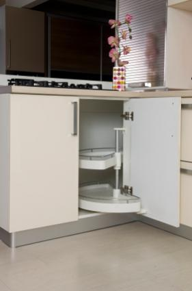 Cabinet With Concealed Hinges Open And Shut