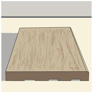 Flat baseboard trim