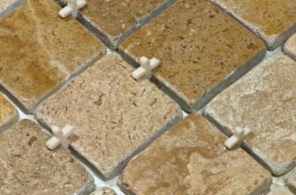 Spacing stone tiles
