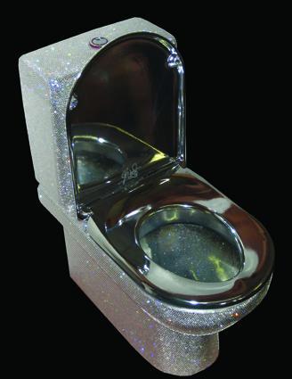 Isis Swarovski crystal-encrusted luxury toilet by Jemal Wright