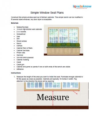 Simple window seat plans