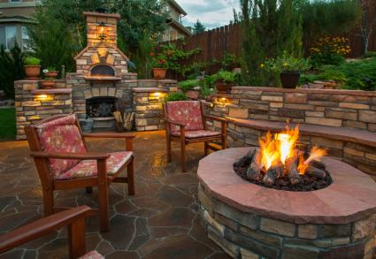 Mixed Seating Around Fire Pit