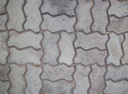 Brick waves stamped concrete