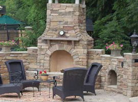 Stonewood Products Arched Fireplace  Fireplace Kits Outdoor
